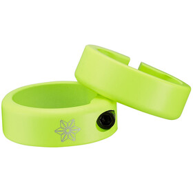 Supacaz Star Ringz Clamping Rings neon yellow matte powder-coated